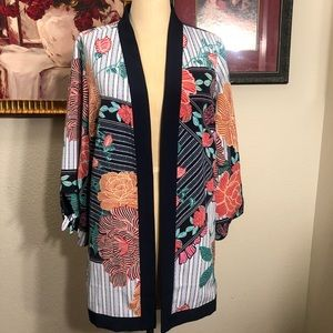 Beautiful reversible floral kimono